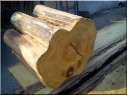 Sanded acacia posts