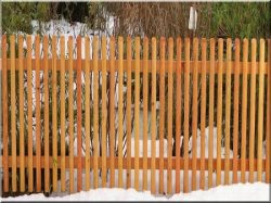 Oak fences, fence elements