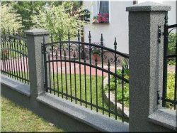 Metal fences, fence elements