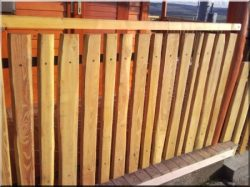 Rustic locust fences, fence elements