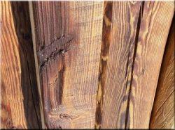 Demolished planks, beams