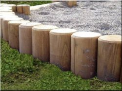 Round milled locust posts and stakes