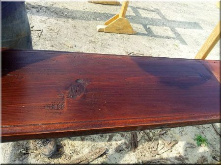 Antique plank