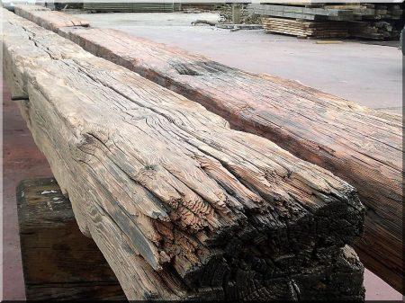 Dismantled beam, 20 x 20 cm