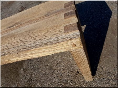 Natural oak bench, small