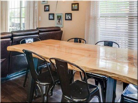 Tischplatte Ahorn natur