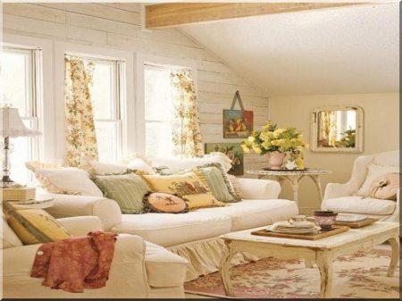Rural, romantic living room