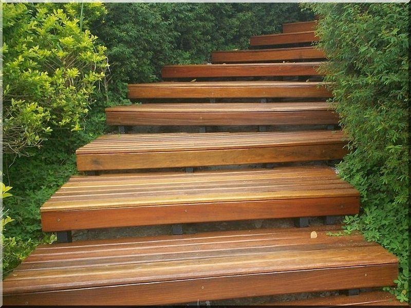 Garden stairs - Industrial loft furniture, Garden borders