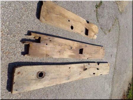Planches de chêne ouvertes et décapées