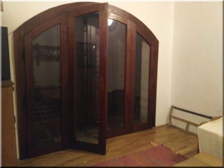 Opened oak door