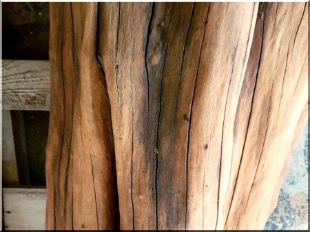 Sandblasted logs