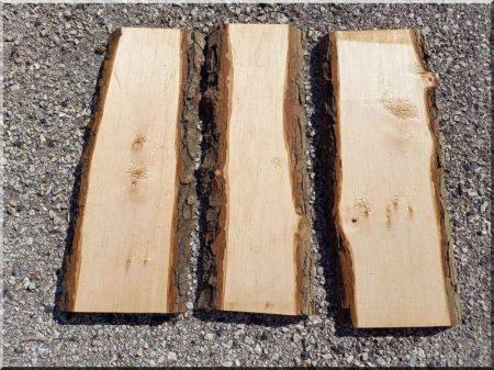 Planed alder planks