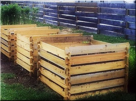 Wooden composting box