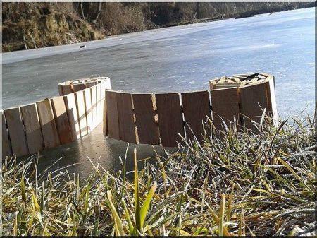 30 cm wood garden border