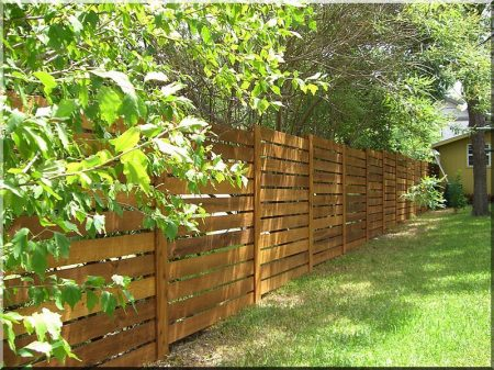 Planed pine plank fence element, 1,75 meter long