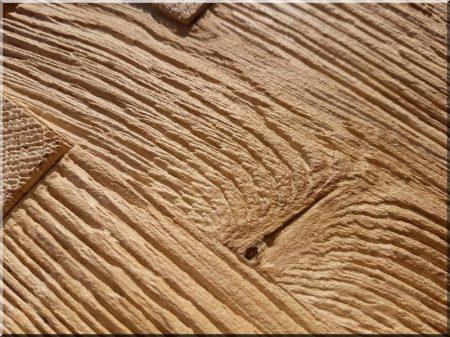 Natural oak shelf table