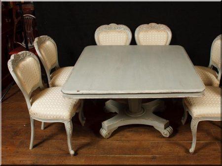 Étkezőasztal hat székkel  -