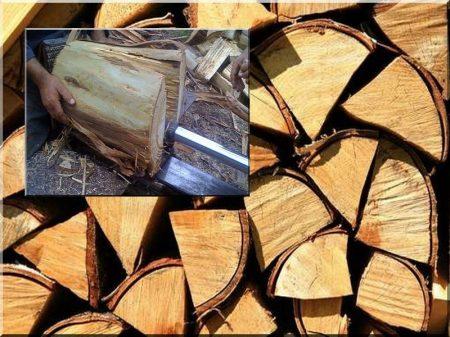 Split, cut firewood