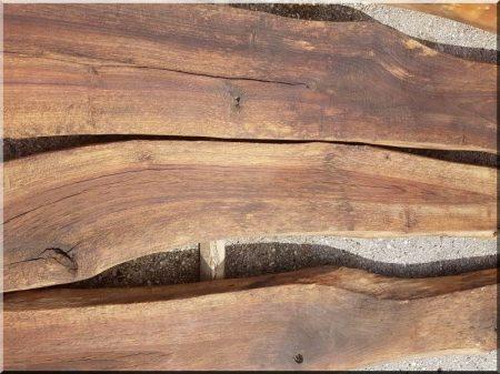 Planche de noyer antique