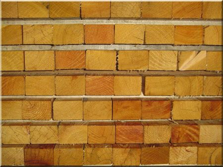 Parallel acacia planks