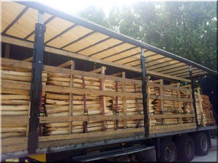 2 metres long, debarked acacia stake, diam. 8-10 cm