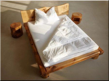 Oak beam bed frame