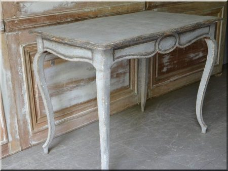Baroque table with antique furniture
