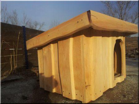 Pultdach Hundehütte Größe II. aus Erle