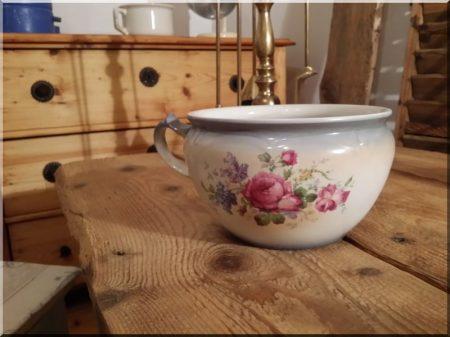 English porcelain bedside