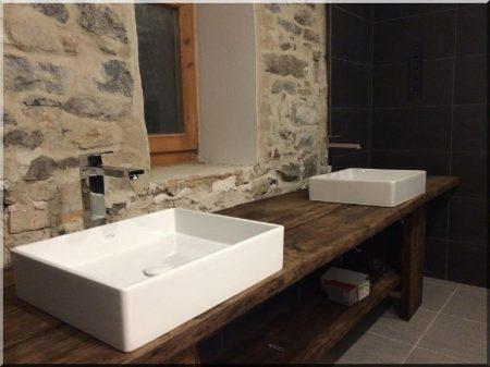 Fürdőszobapult antik tölgyfából