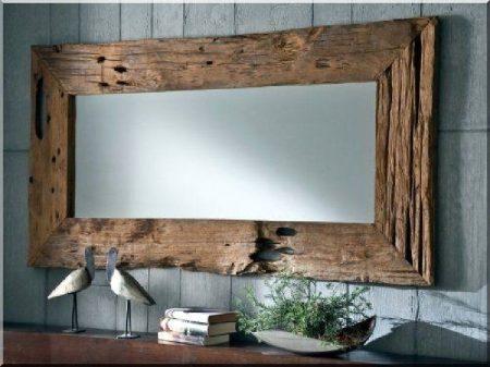 Tükör antik fa kerettel