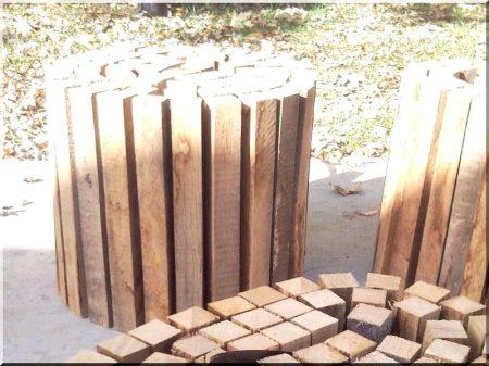 40 cm wood garden border