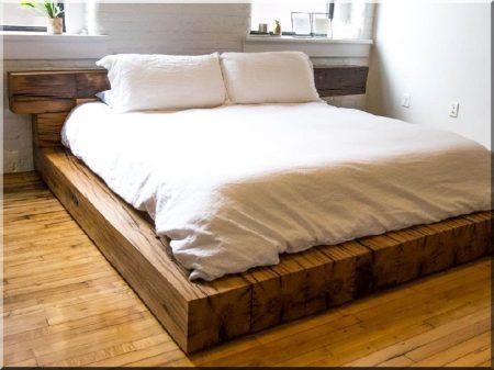 Beam bed frame