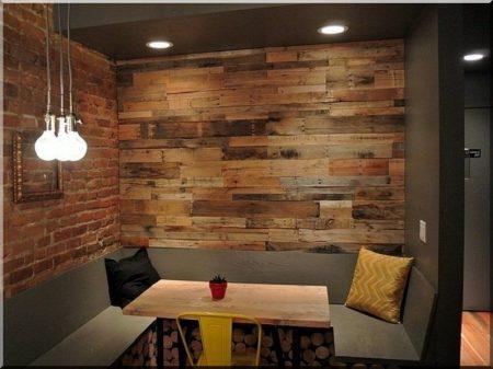 Loft design wall cladding