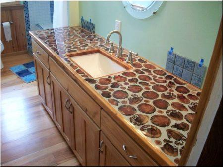 Disques en bois de tailles variées