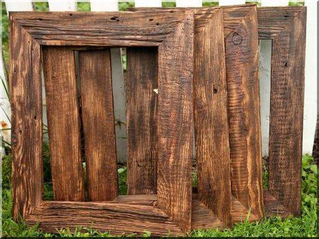Képkeret antik fából
