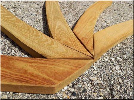 Curved acacia furniture legs