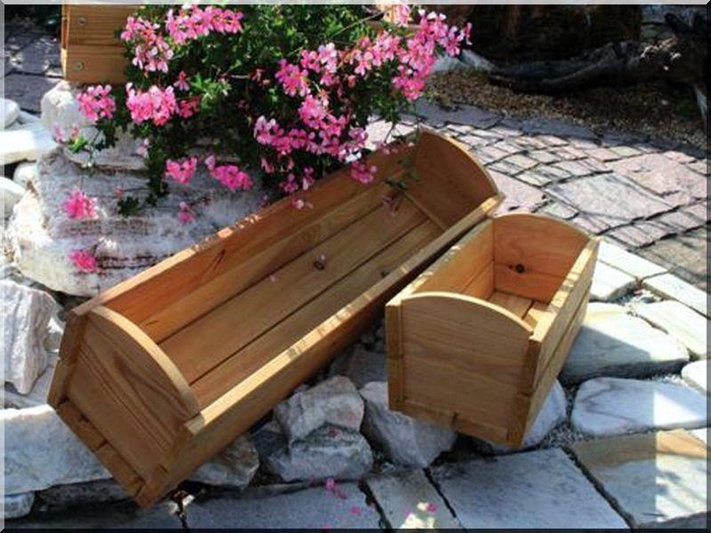 bo te fleurs en bois planches d 39 acacia vieux linteau. Black Bedroom Furniture Sets. Home Design Ideas