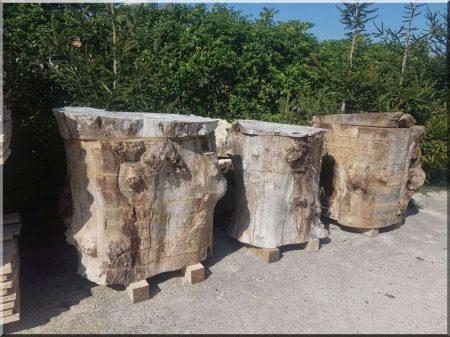Geschnittene Holzscheite