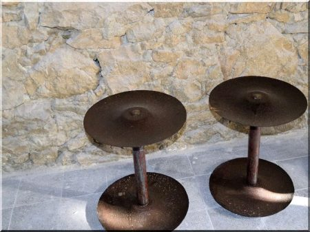 Industrial style pedestal