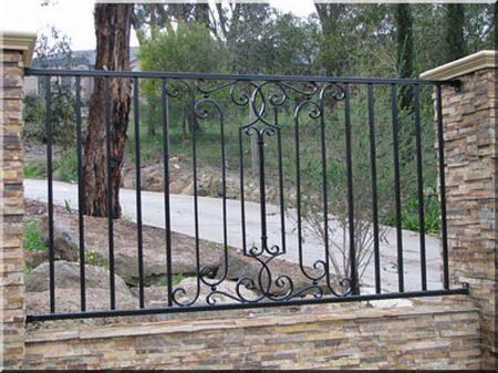 Wrought iron fences after unique plans