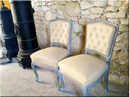 Renovated neo-baroque chair