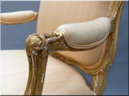 Francia barokk karfás szék -