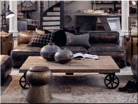 Egyedi, loft asztal -