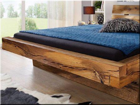 Ágykeret antik fagerendákból