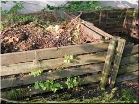 0,8 cubic meter composting place from oak