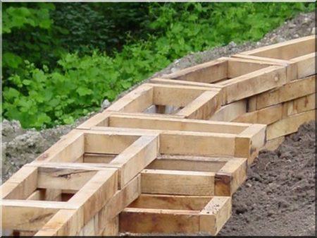 Kerti lépcső fakeret -