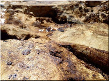 Holzdekoration, Tischplatte