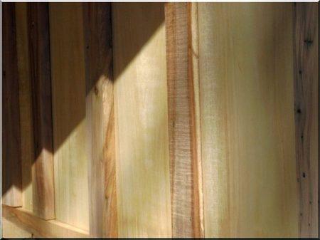 Linden plank wall coat
