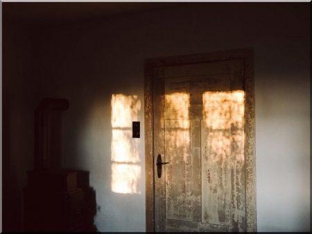 Broken wooden doors